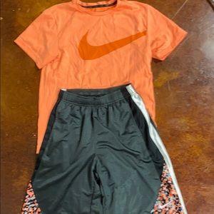 Boys Matching Nike Shirt and Shorts